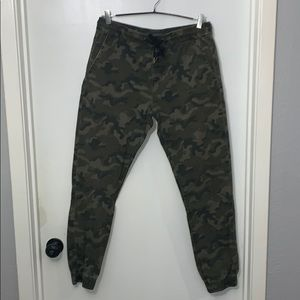 Camouflage joggers drawstring